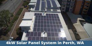 4kW solar panel system in Perth, WA