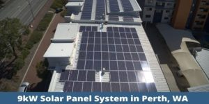 9kW solar panel system in Perth, WA