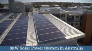 8kW solar panel system in Perth, Australia